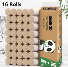 16 Rolls Toilet Paper Bath Tissue Bathroom Premium Brown Soft Household 4 Ply