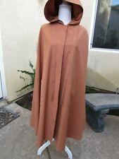 Vintage 60's Women's Hooded Cloak Cape Sleeveless Rain Overcoat Union Label S/M