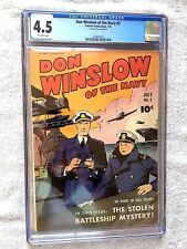 Don Winslow of the Navy #5 CGC 4.5 off-white pages July 1943 & FREE Reader Copy
