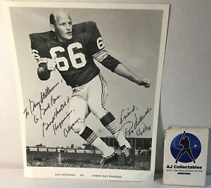 Ray Nitschke autographed  personalized photo Green bay packers Hof No Coa