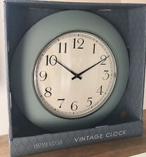Retro vintage style Round duck egg Wall Clock Kitchen Home Blue traditional