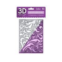 "Crafter's Companion 5"" x 7"" 3D Floral Card Embossing Folder - Regency Swirls"