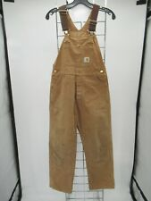 C2052 Boy's Carhartt Denim Hunter Work Overalls Size 14