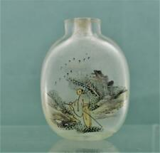 Antique chinese insided painted Snuff bottle 6 cm as found