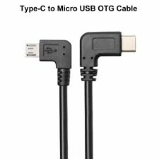 Micro USB para Tipo C Cable de datos USB 90 grados OTG Ángulo recto Cable