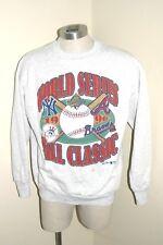 Vintage Atlanta Braves Yankees 1996 World Series Sweat Shirt XL