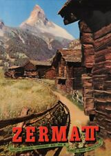 Vintage Ski Posters ZERMATT,  Swiss, 1950's, 250gsm A3 Travel Print
