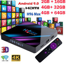 H96 Max TV Box Android 9.0 RK3318 Quad Core 4K 4+64GB/ 4+32GB/ 2+16GB WiFi Media
