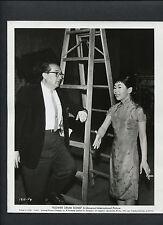 MIYOSHI UMEKI + HENRY KOSTER CANDID - 1961 ON SET BTWN TAKES - FLOWER DRUM SONG