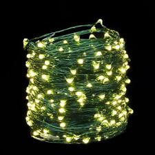100 LED Christmas Wire Fairy Lights String 10M Outdoor Wedding White Battery