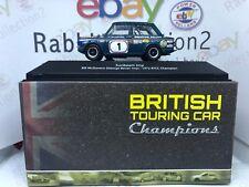 """DIE CAST """" SUNBEAM IMP - 1972 """" BTCC CHAMPION SCALA 1/43 BRITISH TOURING CAR"""