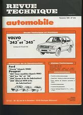 (33B) REVUE TECHNIQUE AUTOMOBILE VOLVO 343 345 / PEUGEOT 104 304 / FORD FIESTA