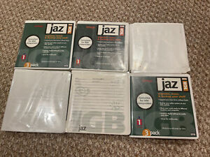 Lot of 6 IOMEGA Jaz 1GB disks PC Formatted - used