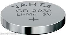 5 x Varta Batterie CR2032 Lithium 3V Knopfbatterie CR 2032 Knopfzelle lose