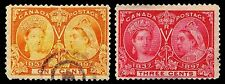 CANADA #51 & 53 JUBILEE ISSUES OF 1897 - USED - F/VF - CV$10.50 (ESP#0376)