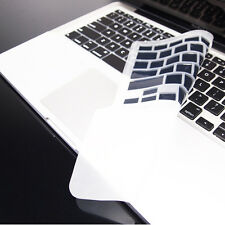 FULL BLACK Keyboard Skin Cover Case for Macbook Pro 13