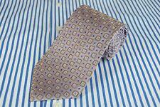 Xmi Homme Cravate Métallique Lilas & Marron Géométrique en Soie Tissée 155x8.9cm