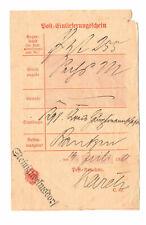 Post Einlieferungsschein Steinigwolmsdorf 1900 nach Bautzen !