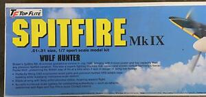 TOP FLITE SPITFIRE MARK 9 GOLD EDITION BALSA RADIO CONTROLLED MODEL AIRPLANE KIT