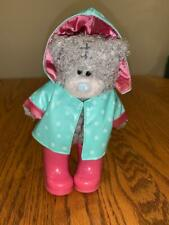 """Tatty Teddy Bear Me To You Clothes Shoes Lot Raincoat Boots 7"""" Rare UK"""