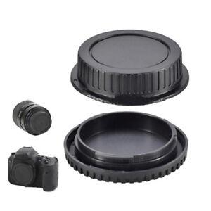 Rear Lens Cap Front Body Cover Protective Protector For Canon FD Camera Black