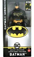 """DC Batman Missions Dark Suit Batman 80 Years Action Figure 6"""" Plastic GCK98"""