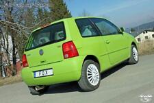 Sportauspuff VW Lupo 1x90mm rund eingerollt gerade mit Absorber