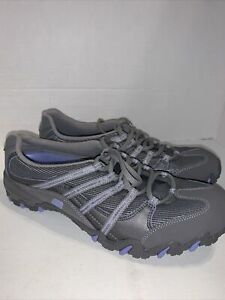 Skechers Women's Sneakers Leather/Textile Color Grey & Lavender Size 9.5