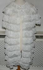 Vintage St Michael White Nylon Peignoir  / Negligee   Bust 34 - 36  # G1