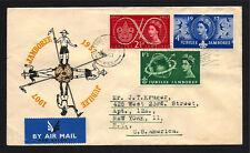 GR BRIT STAMPS #334-336 FDC —  BOY SCOUT ANNIVERSARY -- 1957