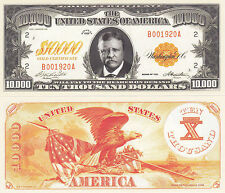 $10,000 Gold Certificate Novelty Money Bill #353