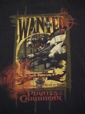 Disney Pirates of The Caribbean Jack Sparrow Wanted Dead or Alive T Shirt 2XL