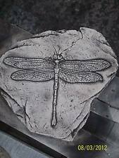 Dragon Fly Fossil Stepping Stone Garden Ornament Latex Mould/Mold (STEP4L)