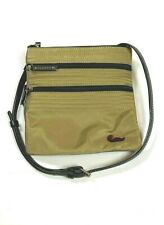 Dooney & Bourke $129 Nylon Crossbody Bag Purse Taupe Brown Small Neon Pink Logo