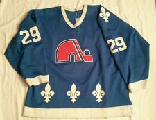 Game Used Worn Vintage Quebec Nordiques NHL Hockey Jersey CCM Maska 1987 29 Finn