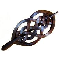 Exclusive Haarspange Klammer Holz Keltisch Design HS08