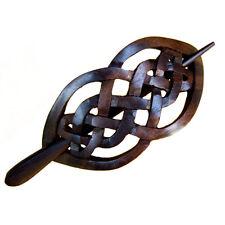 Haarschmuck Haarspange aus Ebenholz  Handarbeit 10968