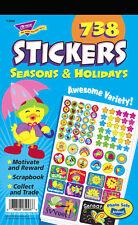 738 Reward Stickers - Seasons & Holidays Sticker Pad - Teacher/Parent/School