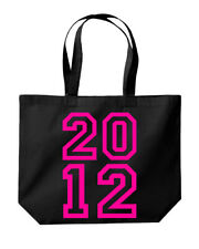 2012 College Font Birthday Anniversary Tote Shopping Gym Beach Bag