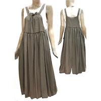 Fly Girl Vestito Lungo Salopette Abito Donna Casual Estivo Verde Long Dress