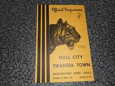 HULL CITY  v  SWANSEA TOWN   1955/6  ~ MARCH 3rd   VINTAGE  *****FREE POST*****
