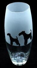 More details for airedale terrier dog gift vase