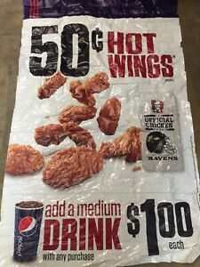 KFC Hot wings BALTIMORE RAVENS MULTI-USE DECAL Window Cling Not A FATHEAD