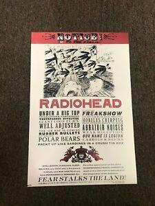 Radiohead Fear Stalks the Land Poster 12x18