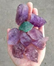 GemFarmer AML: 3/4 LB Lot Raw Purple Amethyst Rough Crystals Brazil 3rd I Chakra