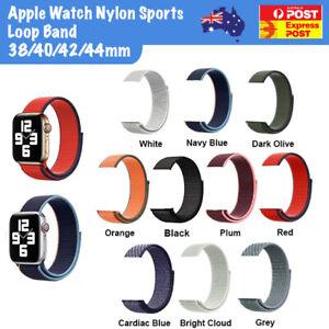 Nylon Sports Loop Apple Watch Band 38/42/40/44/mm