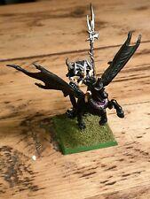 Warhammer Fantasy Dark Elf Witch Queen Morathi on Dark Pegasus * OOP * Metal *