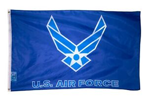 2x3FT US Air Force Flag New Style Wings Logo USAF White on Blue Veteran Active