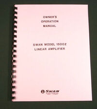 Swan 1500Z Instruction Manual - Premium Card Stock Covers & 28lb Paper!