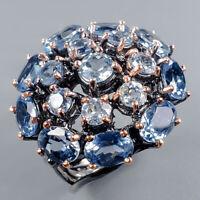 Blue Topaz Ring Silver 925 Sterling Vintage7x5mm Size 6.5 /R130992